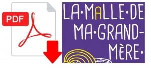 logo pdf télécharger dossier La malle de ma Grand-Mère